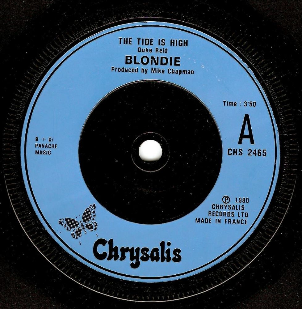 BLONDIE The Tide Is High Vinyl Record 7 Inch French Chrysalis 1980